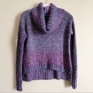 AMERICAN EAGLE / purple ombre cowl sweater /XXS